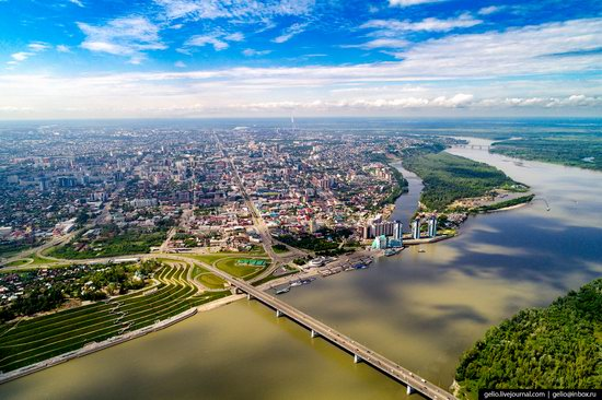 Barnaul, Russia - the view from above, photo 1