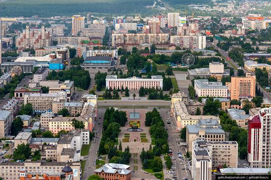 Barnaul, Russia - the view from above, photo 7