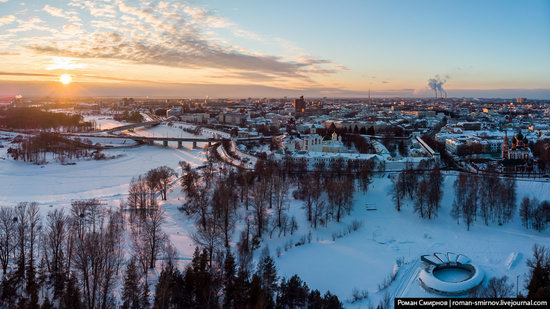 Evening in snow-covered Yaroslavl, Russia, photo 1