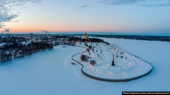 Evening in snow-covered Yaroslavl, Russia, photo 13