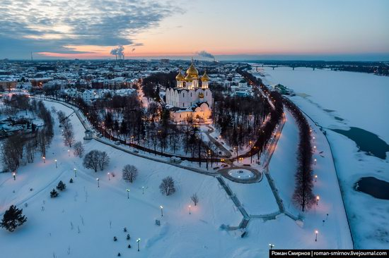 Evening in snow-covered Yaroslavl, Russia, photo 16