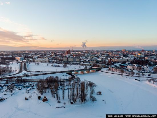 Evening in snow-covered Yaroslavl, Russia, photo 4