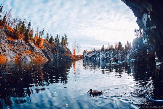 Autumn in the Ruskeala Mountain Park, Karelia, Russia, photo 11