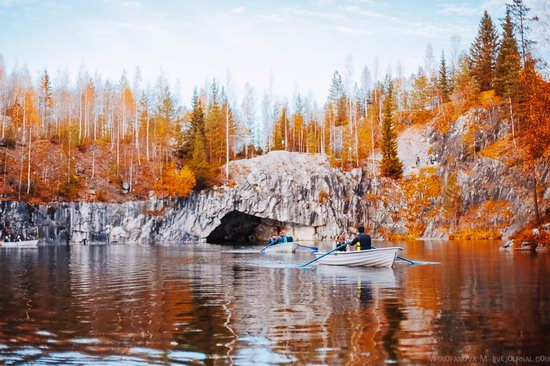 Autumn in the Ruskeala Mountain Park, Karelia, Russia, photo 13