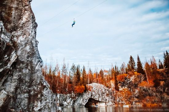 Autumn in the Ruskeala Mountain Park, Karelia, Russia, photo 14
