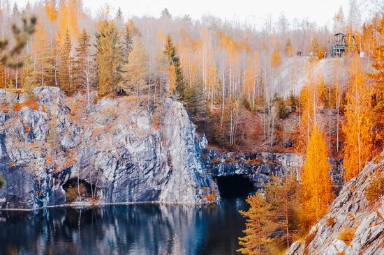 Autumn in the Ruskeala Mountain Park, Karelia, Russia, photo 15