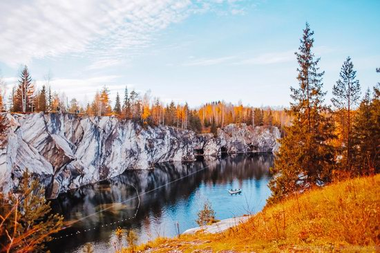 Autumn in the Ruskeala Mountain Park, Karelia, Russia, photo 17