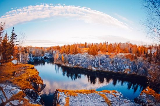 Autumn in the Ruskeala Mountain Park, Karelia, Russia, photo 2