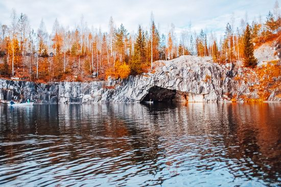 Autumn in the Ruskeala Mountain Park, Karelia, Russia, photo 21