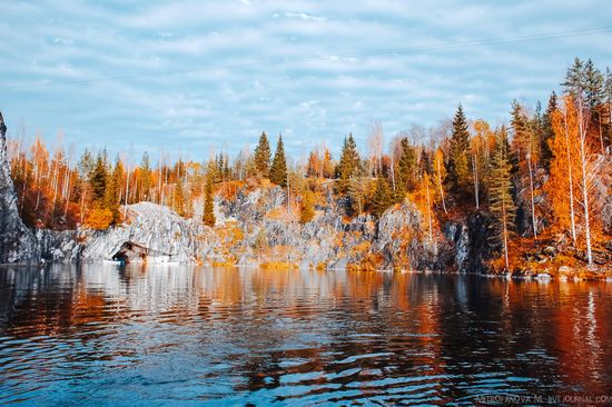 Autumn in the Ruskeala Mountain Park, Karelia, Russia, photo 4