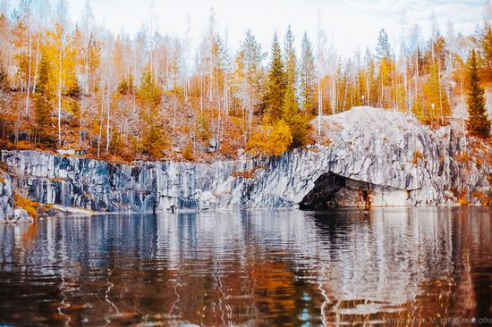 Autumn in the Ruskeala Mountain Park, Karelia, Russia, photo 5