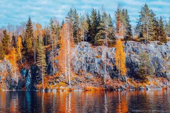 Autumn in the Ruskeala Mountain Park, Karelia, Russia, photo 6