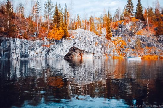 Autumn in the Ruskeala Mountain Park, Karelia, Russia, photo 8