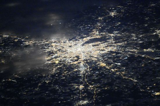 Cities of Russia at Night from Space - Moscow