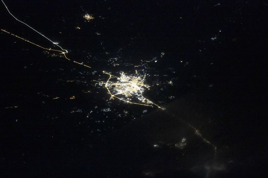 Cities of Russia at Night from Space - Tver
