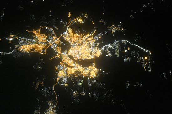 Cities of Russia at Night from Space - Irkutsk