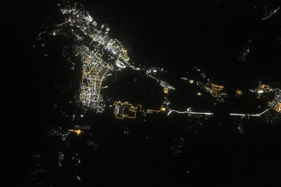 Cities of Russia at Night from Space - Angarsk