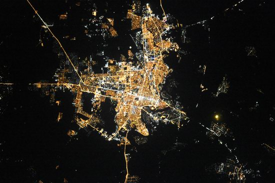 Cities of Russia at Night from Space - Krasnodar