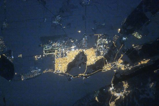 Cities of Russia at Night from Space - Tolyatti