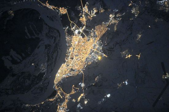 Cities of Russia at Night from Space - Samara