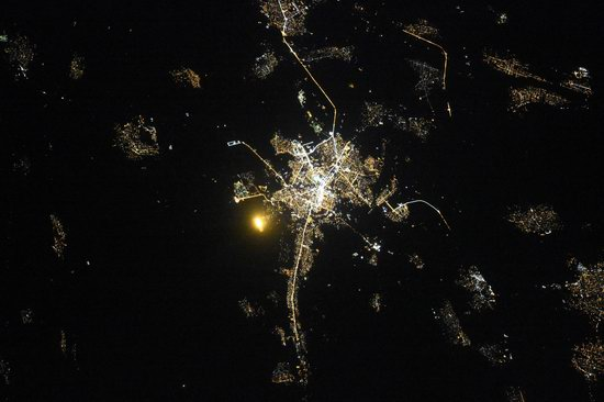 Cities of Russia at Night from Space - Grozny