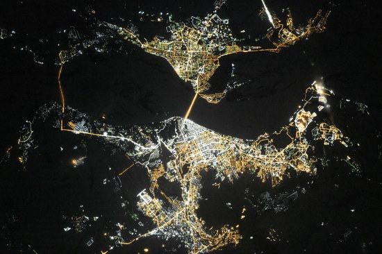 Cities of Russia at Night from Space - Saratov