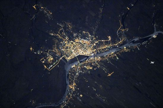 Cities of Russia at Night from Space - Astrakhan