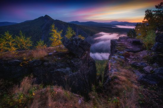 Colorful Dawn on the Top of the Aygir Cliffs, Bashkiria, Russia, photo 6