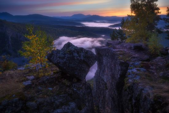 Colorful Dawn on the Top of the Aygir Cliffs, Bashkiria, Russia, photo 7