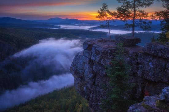 Colorful Dawn on the Top of the Aygir Cliffs, Bashkiria, Russia, photo 9
