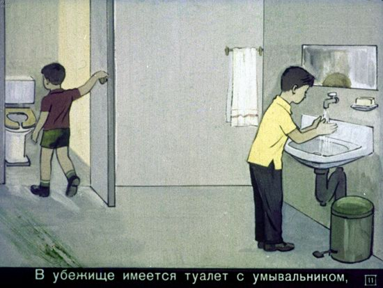 Soviet Filmstrip for Kids about Nuclear War Shelters in 1970, picture 11