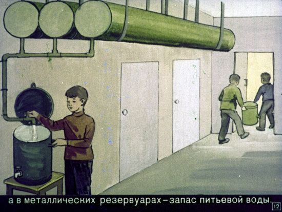 Soviet Filmstrip for Kids about Nuclear War Shelters in 1970, picture 12