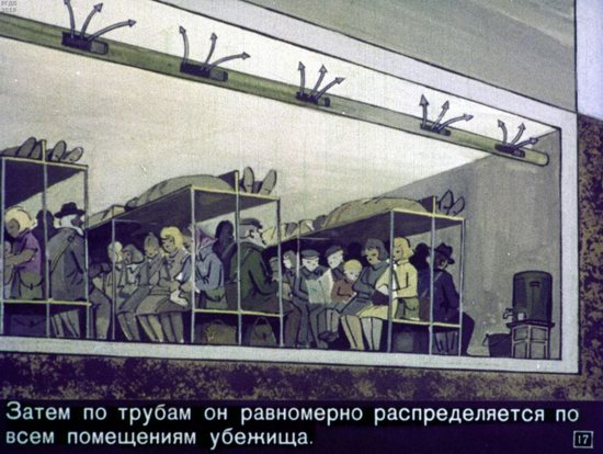 Soviet Filmstrip for Kids about Nuclear War Shelters in 1970, picture 17