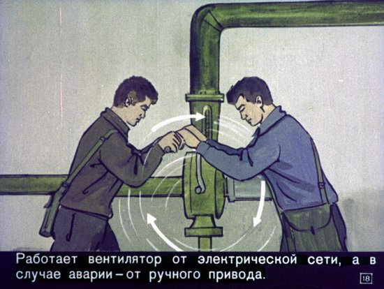 Soviet Filmstrip for Kids about Nuclear War Shelters in 1970, picture 18