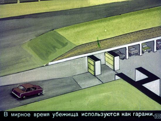 Soviet Filmstrip for Kids about Nuclear War Shelters in 1970, picture 22