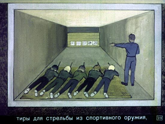 Soviet Filmstrip for Kids about Nuclear War Shelters in 1970, picture 23