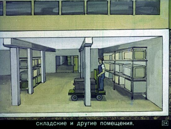 Soviet Filmstrip for Kids about Nuclear War Shelters in 1970, picture 24