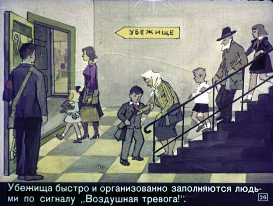 Soviet Filmstrip for Kids about Nuclear War Shelters in 1970, picture 26