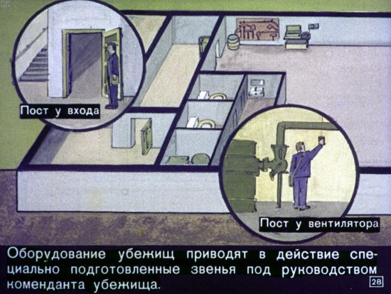 Soviet Filmstrip for Kids about Nuclear War Shelters in 1970, picture 28