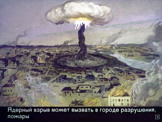 Soviet Filmstrip for Kids about Nuclear War Shelters in 1970, picture 3