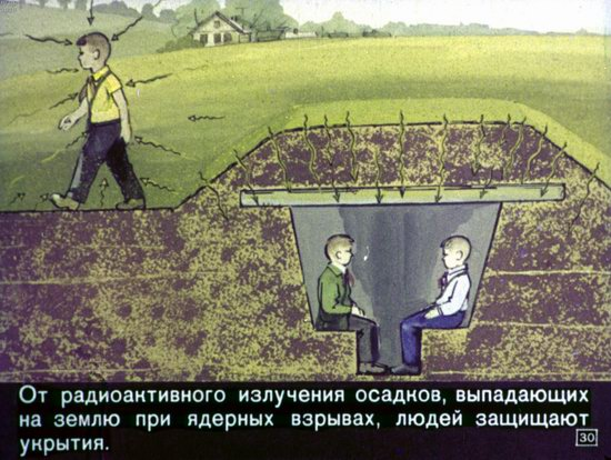 Soviet Filmstrip for Kids about Nuclear War Shelters in 1970, picture 30