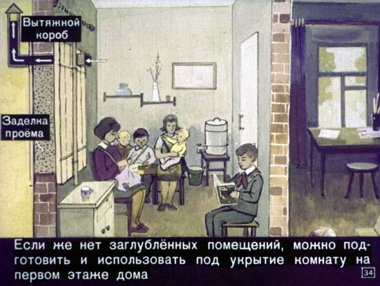 Soviet Filmstrip for Kids about Nuclear War Shelters in 1970, picture 34