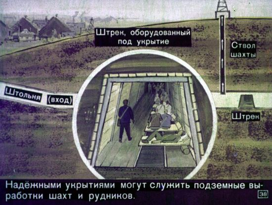 Soviet Filmstrip for Kids about Nuclear War Shelters in 1970, picture 38
