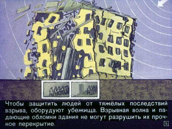 Soviet Filmstrip for Kids about Nuclear War Shelters in 1970, picture 5