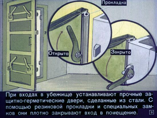 Soviet Filmstrip for Kids about Nuclear War Shelters in 1970, picture 9
