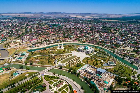 The rebuilt center of Grozny from above, Russia, photo 3