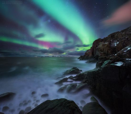 Northern Lights in Teriberka, Murmansk Oblast, Russia, photo 4