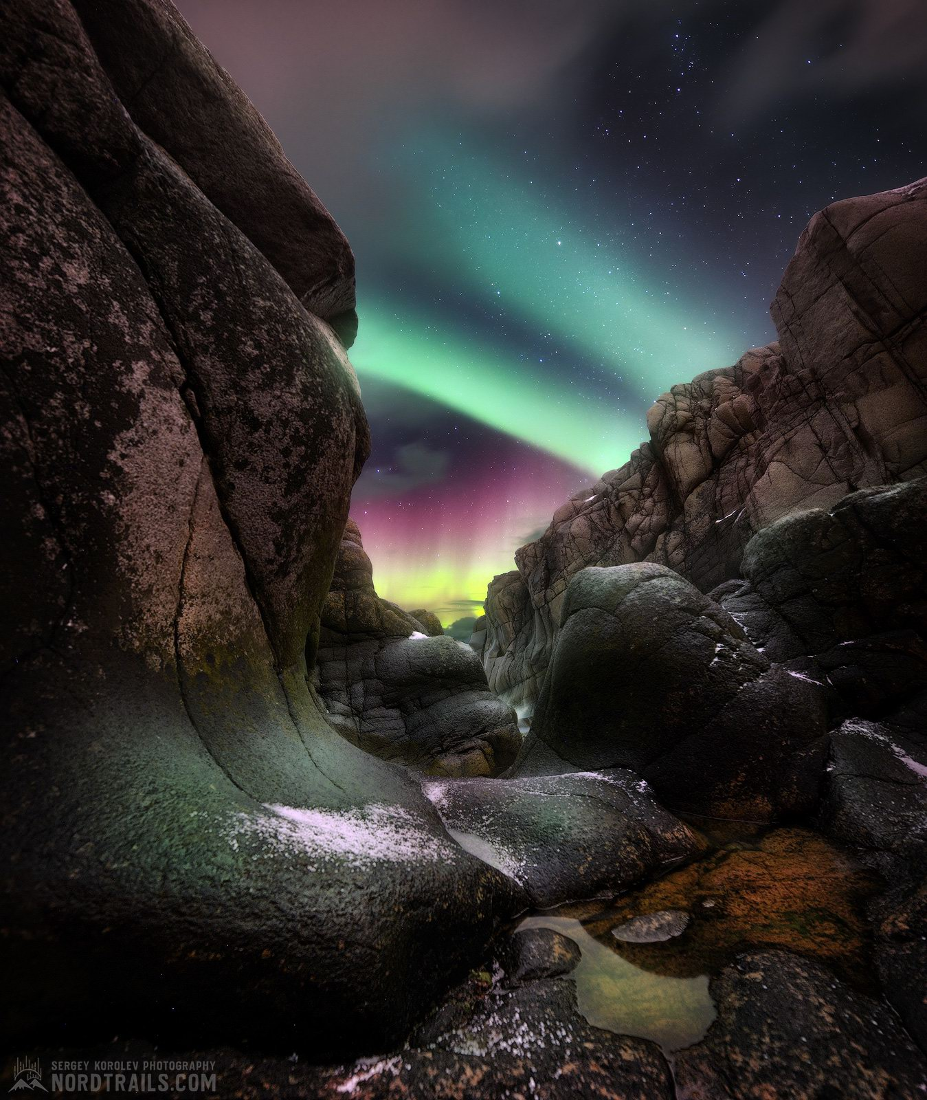 Landscapes Illuminated By The Northern Lights In Teriberka