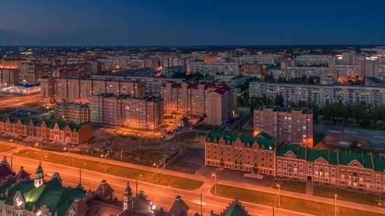 The center of Yoshkar-Ola, Russia from above, photo 18