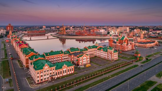 The center of Yoshkar-Ola, Russia from above, photo 20